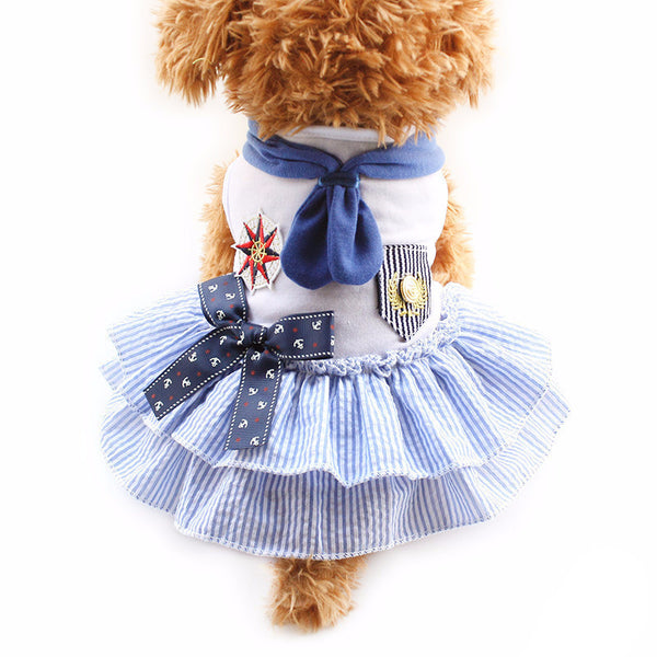 Blue / XS Sweetie Sailor Dog Dress