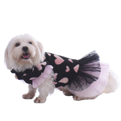 Cosy Heart Dog Dress