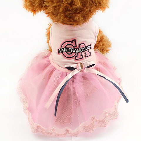 Pink / XS California Pink Dog Dress