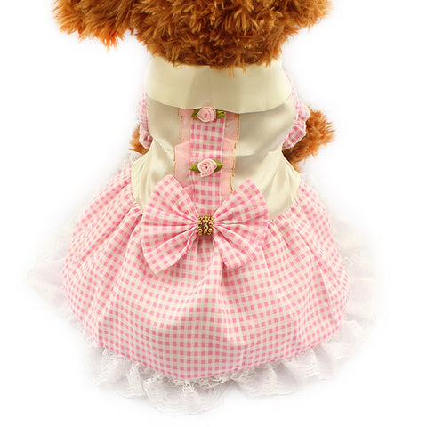 Pink / XS Gingham Dog Dress
