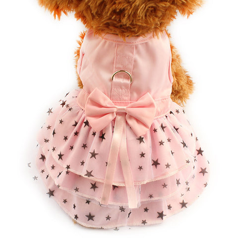Pink / XXS Princess Starry Dog Dress