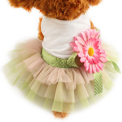 S Flower Power Dog Dress