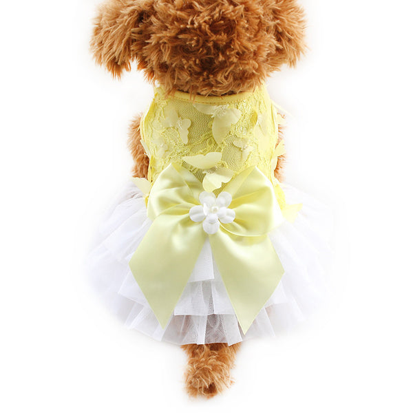 Yellow / XS Butterfly Tutu Dress