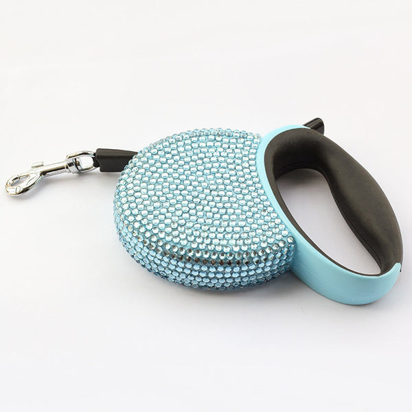 Blue / S Stone Jewel Dog Leash