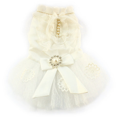 White / XS Princess Diana Wedding Dog Dress