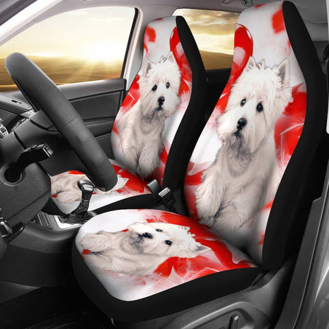 West Highland White Terrier Dog Print Car Seat Covers- Free Shipping
