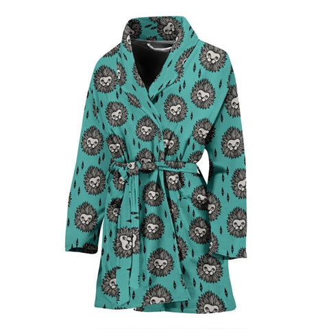 Amazing Lion Pattern Print Women's Bath Robe-Free Shipping