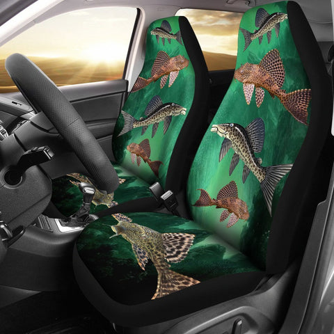 Suckermouth Catfish Print Car Seat Covers- Free Shipping