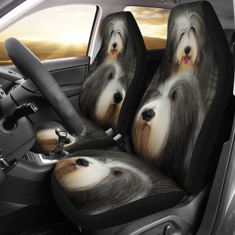 Bearded Collie Dog Print Car Seat Covers-Free Shipping