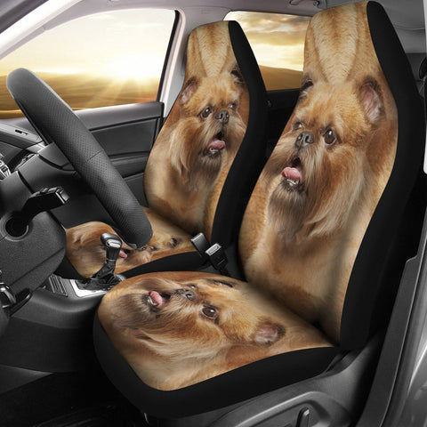 Brussels Griffon (Griffon Bruxellois) Print Car Seat Covers-Free Shipping