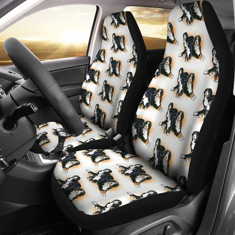 Bernese Mountain Dog Family Print Car Seat Covers-Free Shipping