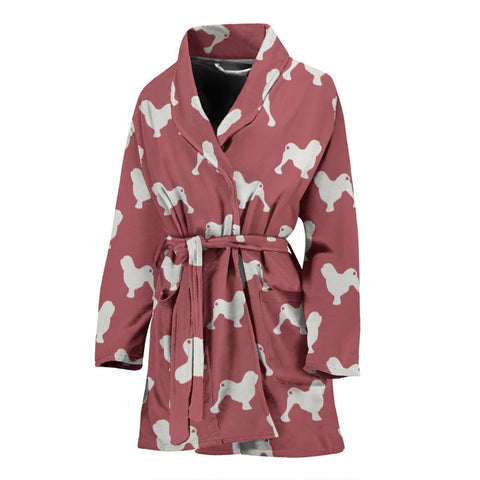 Lowchen Dog Pattern Print Women's Bath Robe-Free Shipping