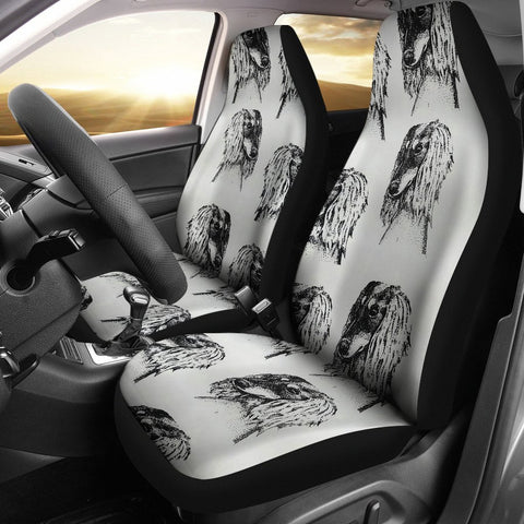 Sketch Of Saluki Dog Print Car Seat Covers-Free Shipping