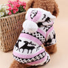 Cozy fleece winter dog/pet jumper with hood