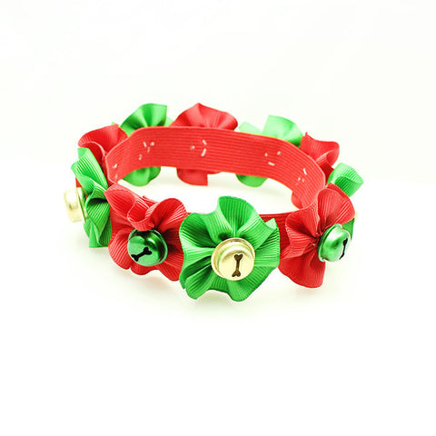 Elasticated Xmas Bell Collar