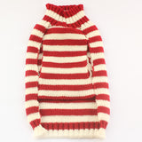 Santa Striped Dog Sweater