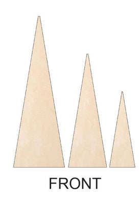 Christmas Trees - Triangle with Separate Stand DIY Kit