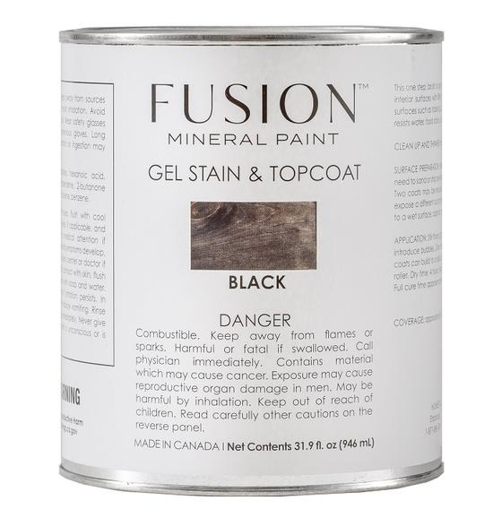 Fusion Gel Stain & Top Coat Black