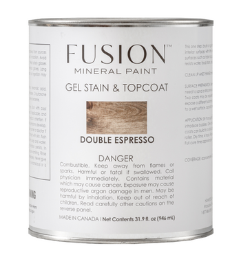 Fusion Gel Stain & Top Coat Double Espresso