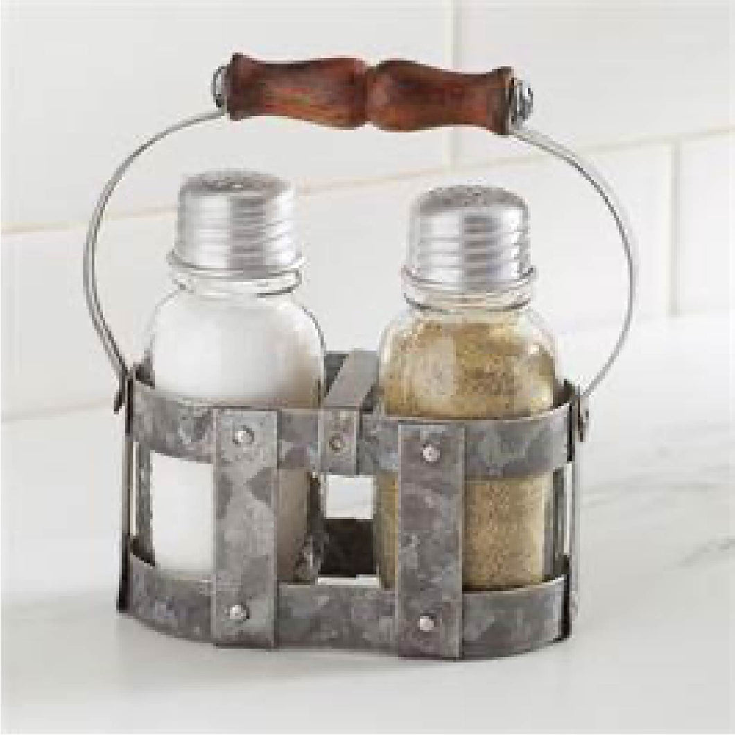 Salt & Pepper Strapping Metal Set