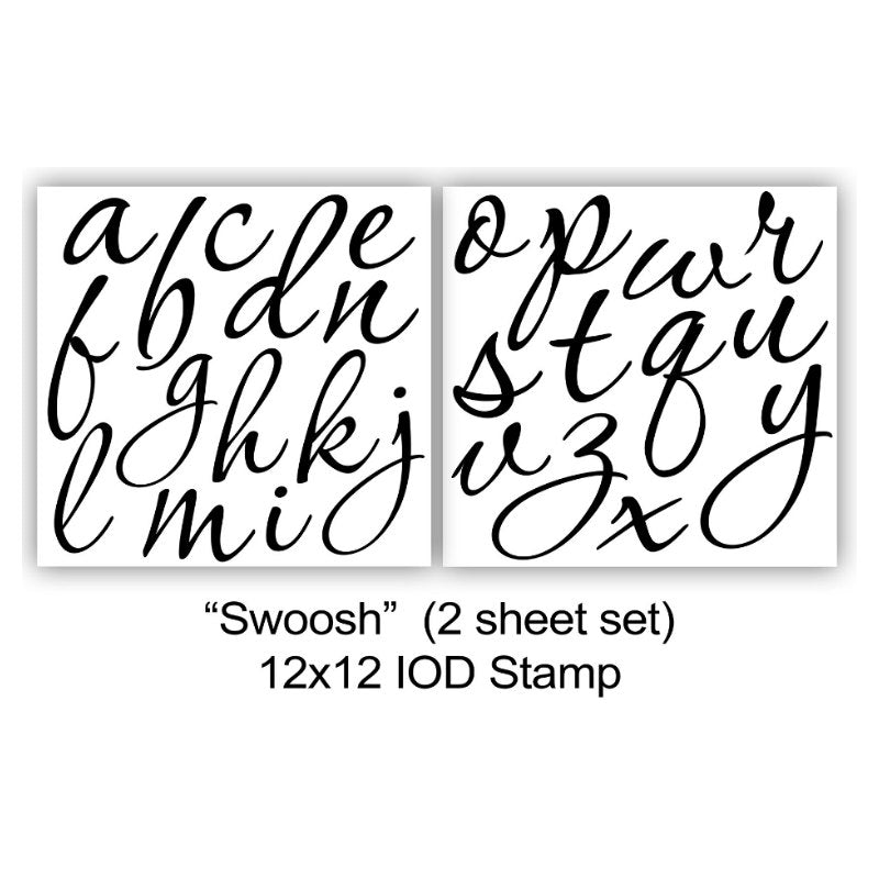 Swoosh IOD Decor Stamp (12″X12″- 2 Sheet Set)