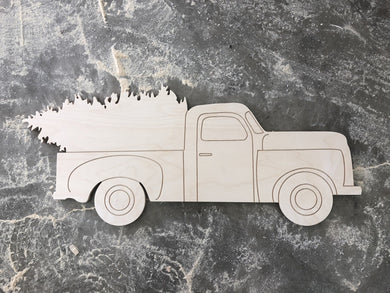 Old Fashioned Pickup Truck with tree DIY Kit