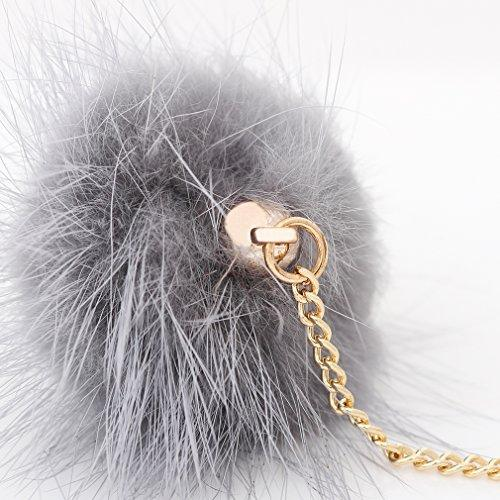 Chloelle Pom Pom Drop Earring Gold Chain