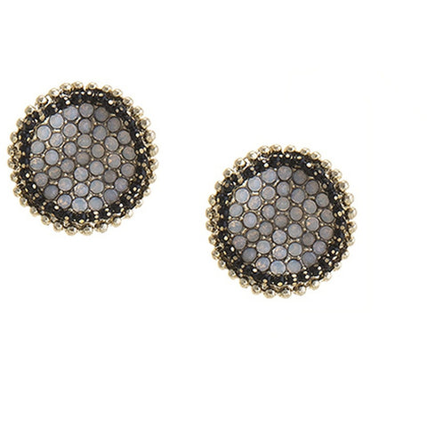 Wavy Disk Studs - Earrings