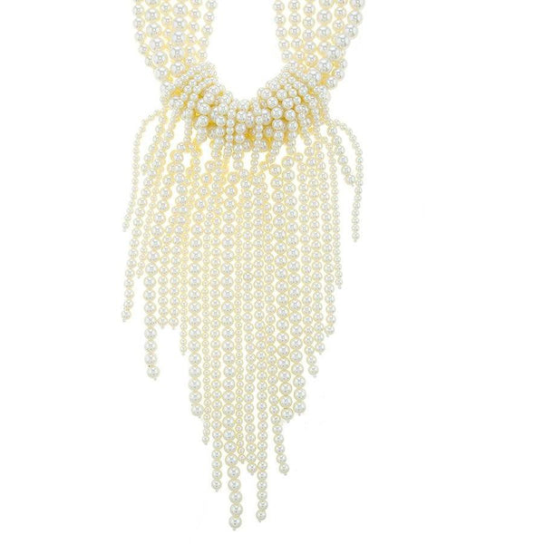 Head Over Hills For Pearls Oversized Necklace