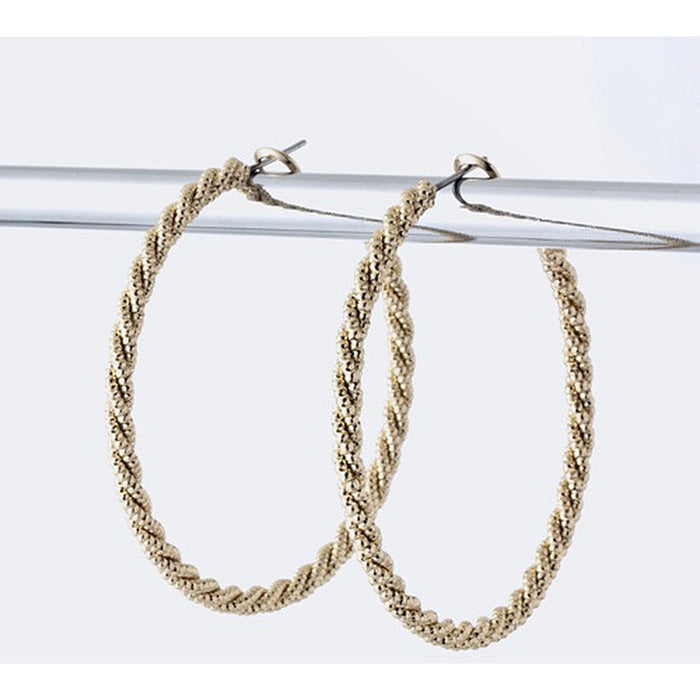 Twisted Hoops - Gold - Earrings