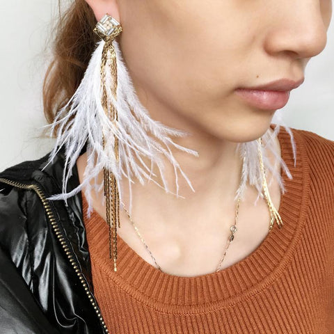 Gone With the Wind Feather Earrings