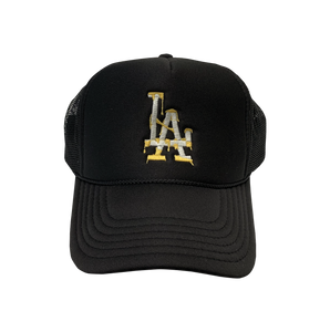 Black Los Angeles Dodgers Dip City Trucker