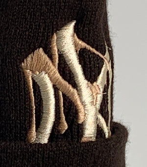 ReWorked Brown Yankees Coffee Beanie