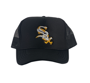 Black White Sox Dip City Trucker