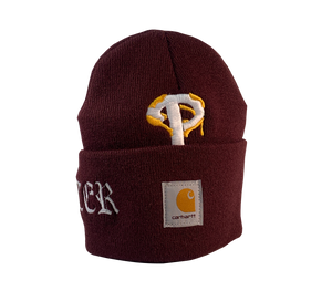 ReWorked Maroon Phillies Carhartt Beanie