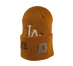 ReWorked Gold Dodgers Carhartt Beanie