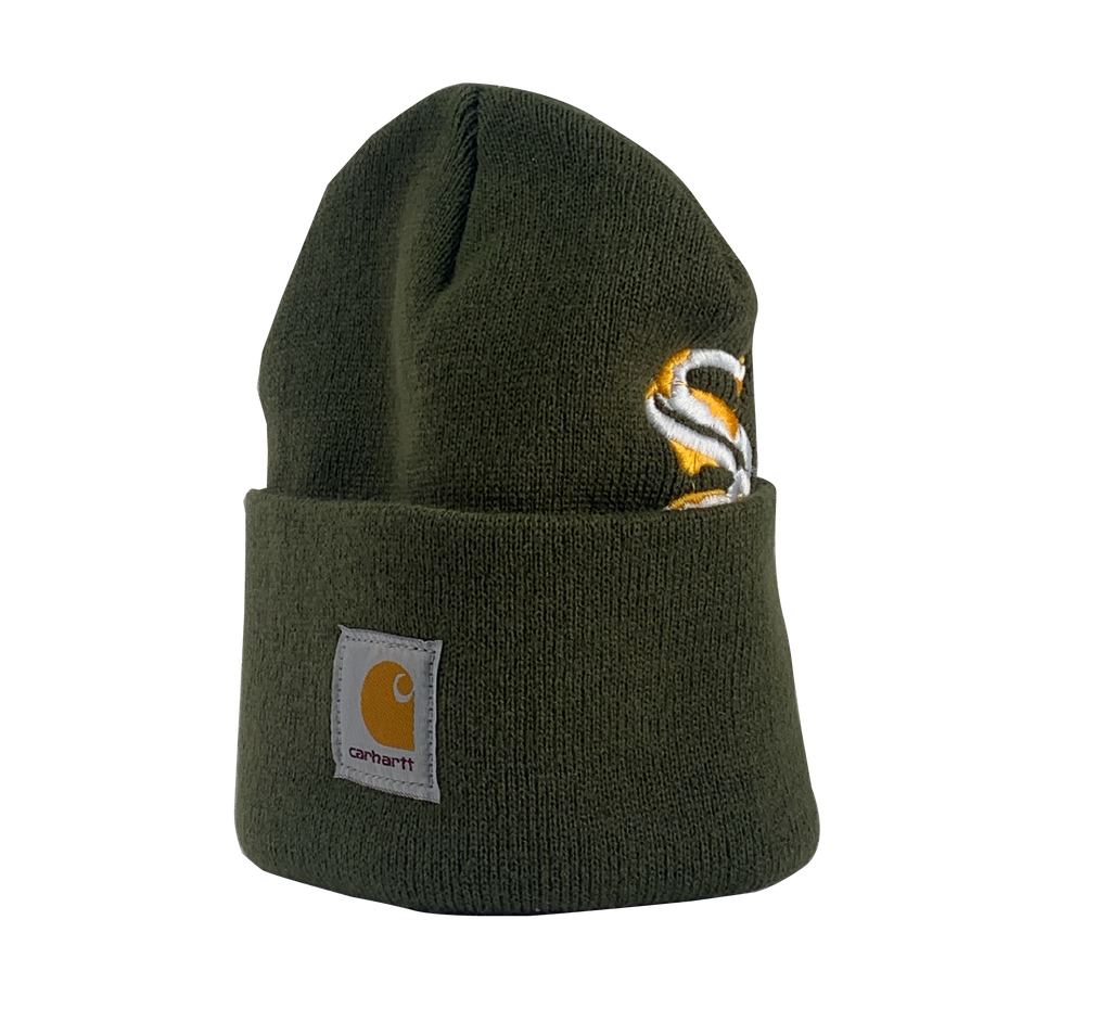 ReWorked Olive White Sox Carhartt Beanie