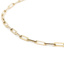 Image of the 14K yellow gold Paperclip Chain from Hayley Style.