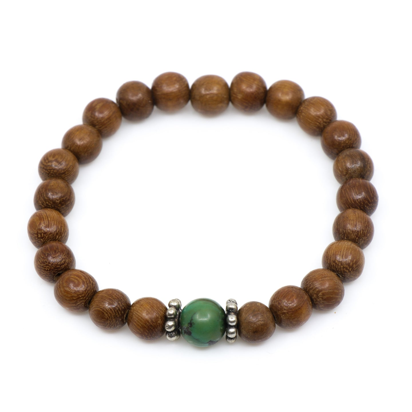 Wood with Natural Turquoise Bead - Hayley Style