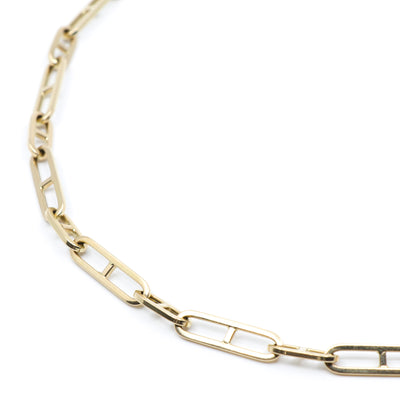 Image of a 14K yellow gold H-Chain, available in three sizes