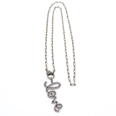 Long Sterling Silver Paperclip Chain