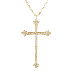 14k Yellow Gold Roman Cross