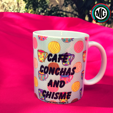Café, Conchas and Chisme mugs