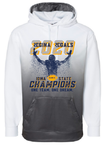 2020 Regina State Football Champs Badger - Ombre Hooded Sweatshirt