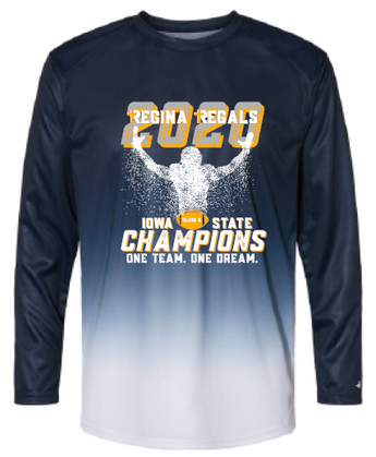2020 Regina State Football Champs Badger - Ombre Long Sleeve T-Shirt