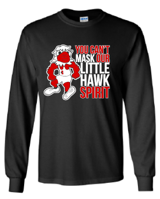2020 Louie the Little Hawk Gildan Heavy Cotton Long Sleeve T-Shirt
