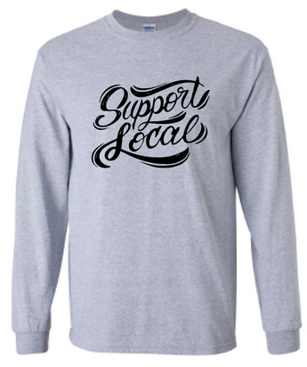 Support Local LONG SLEEVE Cotton T-Shirt (with Shipping)