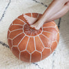Moroccan Leather Poufs