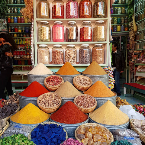 Marrakech souk spices