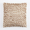 Camel and creme wool square pillow